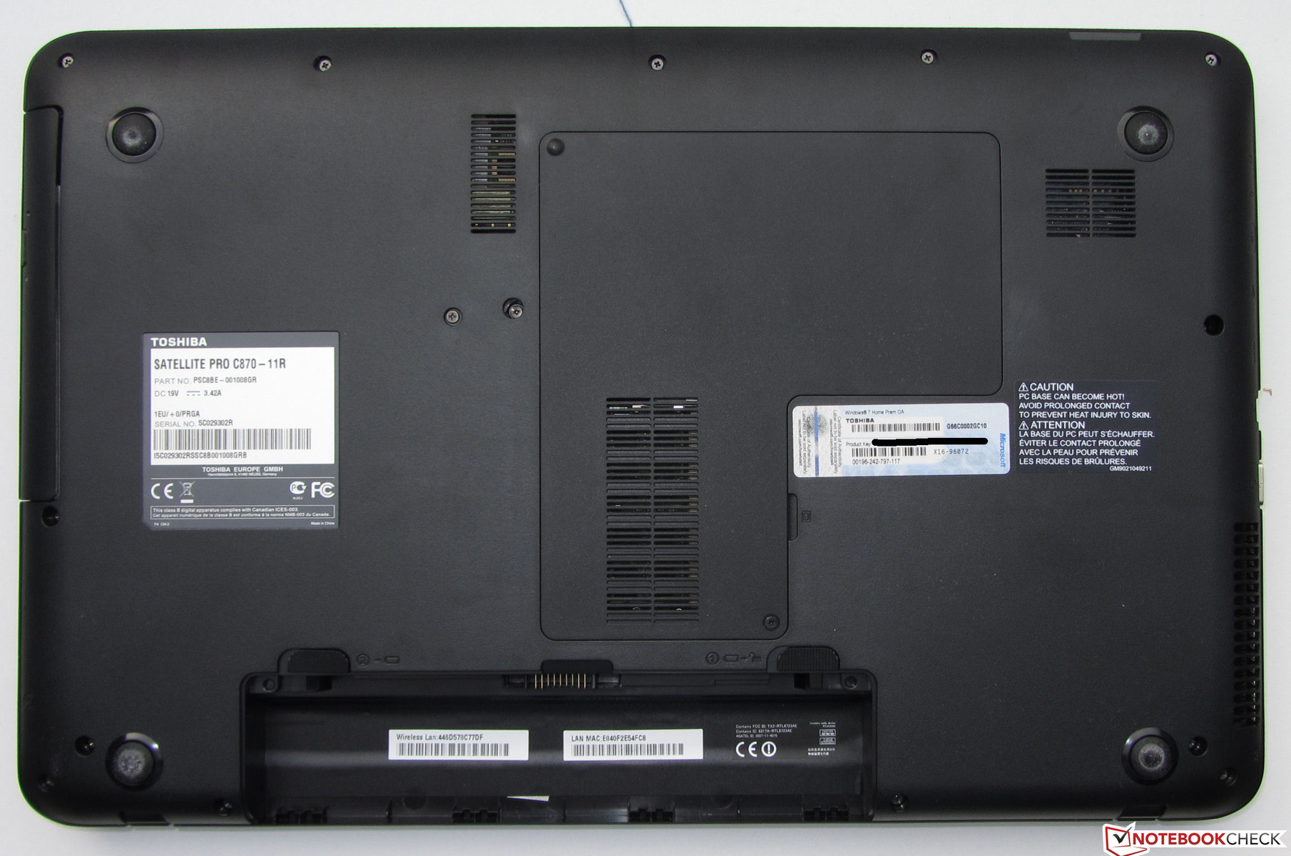 Review Toshiba Satellite Pro C870 Notebook Notebookcheck