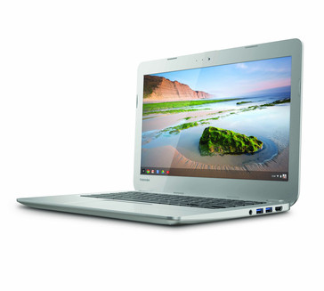 Toshiba 13.3-inch Chromebook side view