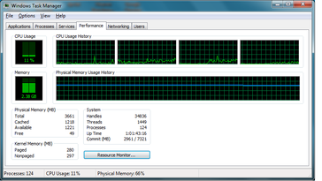 CPU usage, USB 3.0 via notebook