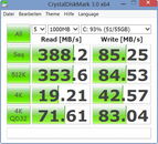 Crystal Disk Mark 388 MB/s seq. read