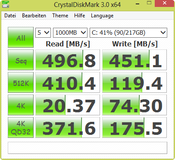 CrystalDiskMark 496 MB/s Seq. Read