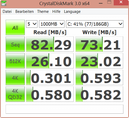 CrystalDiskMark 82 MB/s seq. read