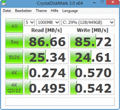 CrystalDiskMark 86 MB/s Seq. Read
