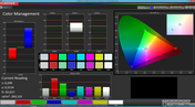 Color Management (Cinema mode, target color space: sRGB)