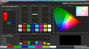 Color Management (Basic mode, target color space: sRGB)