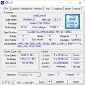 NUC6i5SYH CPU summary