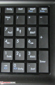 A numeric keypad is also available.
