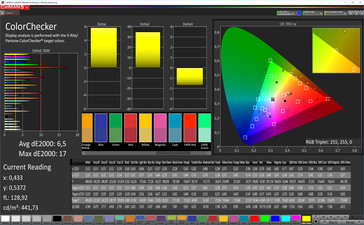 ColorChecker (max. color balance, target color space: sRGB)