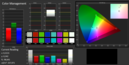 Color management (before calibration with sRGB color space)