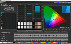 ColorChecker (Profile: Basic, target color space sRGB)