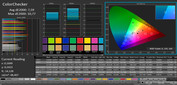 ColorChecker (profile: Cinema, target color space: sRGB)