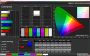 CalMAN Colorspace (target color space: sRGB), vivid display mode
