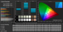 CalMAN ColorChecker according to sRGB