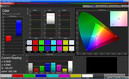Color accuracy: Dynamic mode (target color space sRGB)