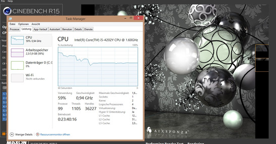 Performance slowdown during Cinebench CPU test