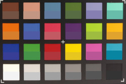 Moto X Style: Screenshot of ColorChecker colors. We displayed the original color in the lower half of every patch.