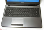 Keyboard and touchpad of the Compaq 15-h024sg