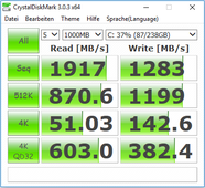 CrystalDiskMark: internal SSD