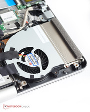 ... the two fans and the hard drive. However, reaching the memory is a bit trickier.