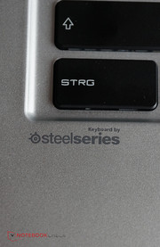 The keyboard is still provided by SteelSeries.