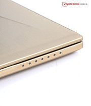 The gold color attracts attention, but it isn't intrusive. There is also a black version of the GS60 if you prefer it.