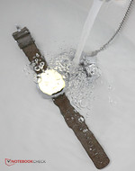 The smartwatch is water and dust resistant.