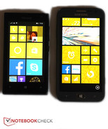 Direct comparison: Microsoft Lumia 435 (TN LED, 800x480 pixels) / Samsung Ativ S (AMOLED, 1200x720 pixels)