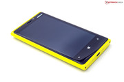 The Lumia 920's poly-carbonate casing looks high-end.