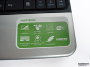 Sticker showing features of the laptop, which most people will remove very quickly.