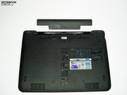 Other than the battery, there is no access to any components from the underside of the laptop.