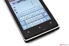 Virtual QWERTZ-keyboard in portrait format.