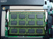 The existing modules have to be replaced by two 4GB bars to achieve the maximum RAM capacity