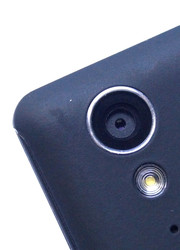 The primary camera on the back has 8 megapixels.