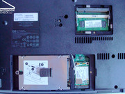 The hard drive had to be removed in order to install XP, RAM is fast, easily and cost-effectively upgradeable.