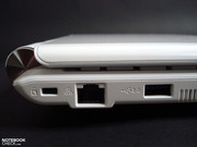 Ethernet and USB ports are nicely placed to the rear side.