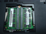 2x2GB DDR3 RAM is already built-in. More for the included 32bit Vista is almost senseless