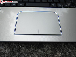 The touchpad of Toshiba's Satellite L70-B-130