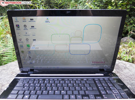 Outdoor use is not one of the Toshiba Satellite L70-B-130's strengths.