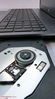 Unobtrusive and not too loud: The DVD drive in the ProBook 450.