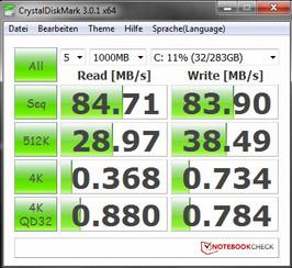 System info CrystalDiskMark 3.0