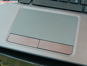 The touchpad with its effective keys...