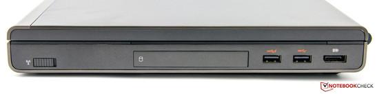 rechte Seite: 2x USB 3.0, DisplayPort