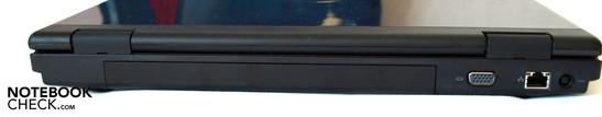 Backside: Battery, VGA, LAN (RJ 45), power socket