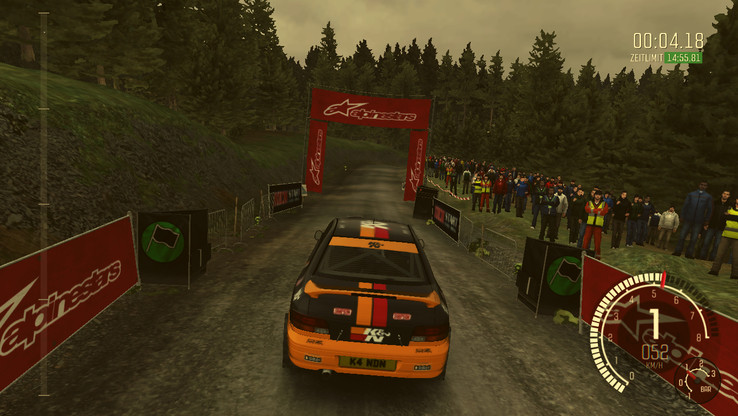 Dirt Rally can be played; the integrated benchmark determines 58 fps for the Vostro in the native resolution (1366x768) and the lowest settings.