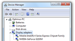 In Windows 7's hardware manager you'll find both installed graphic cards.
