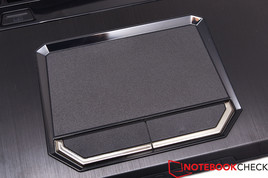 The touchpad is slightly roughened and very precise.