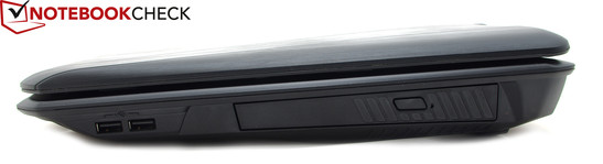 Right hand side: 2x USB 3.0, optical drive bay