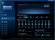 The Dolby Home Theater Software improves the sound.