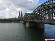 Cologne Cathedral and bridge HDR