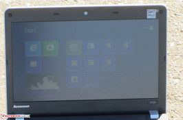 The ThinkPad Edge E130 outdoors